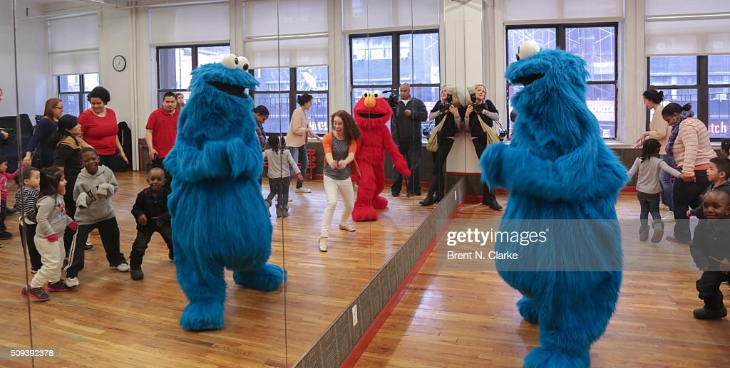 A general view of the atmosphere during the Sesame Street Live Dance Class held at Ripley Greer Studios on February 10, 2016 in New York City.