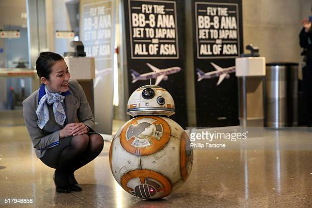A general view of the atmosphere during the 'Star Wars' BB8 ANA Jet event at LAX Airport on March 28 2016 in Los Angeles California