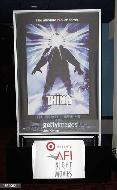 General view of the atmosphere during 'The Thing' at Target Presents AFI's Night at the Movies at ArcLight Cinemas on April 24 2013 in Hollywood...
