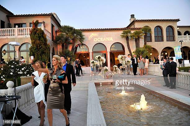 A general view of the atmosphere inside Oceana's SeaChange Summer Party at a private residence on July 29 2012 in Laguna Beach California