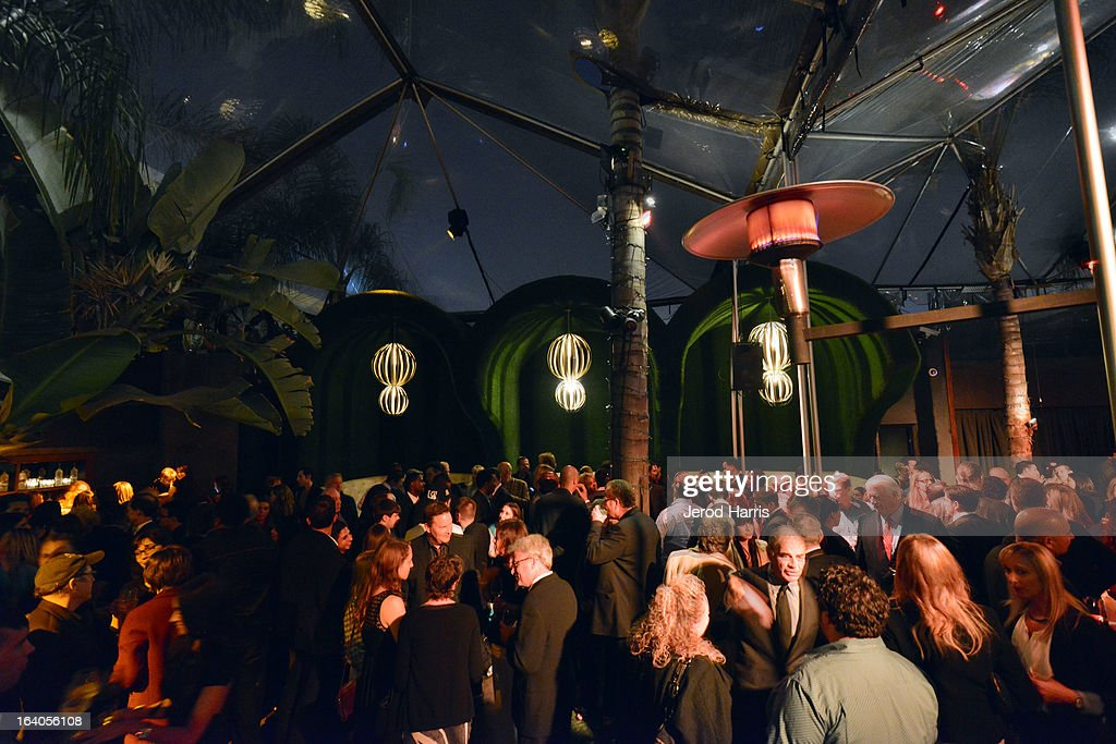 A general view of the atmosphere inside the 'Olympus Has Fallen' Premiere Reception presented by Grey Goose Vodka at Lure on March 18, 2013 in Hollywood, California.