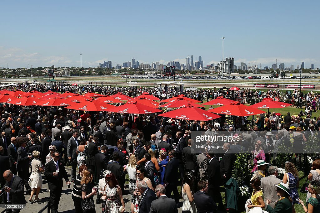 A general view of the atmosphere on Crown Oaks Day at Flemington Racecourse on November 8, 2012 in Melbourne, Australia.
