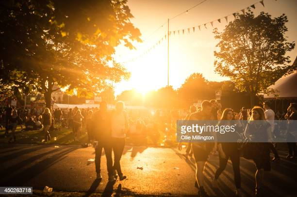 General view of the atmosphere on Day 1 of the Field Day Festival at Victoria Park on June 7 2014 in London United Kingdom