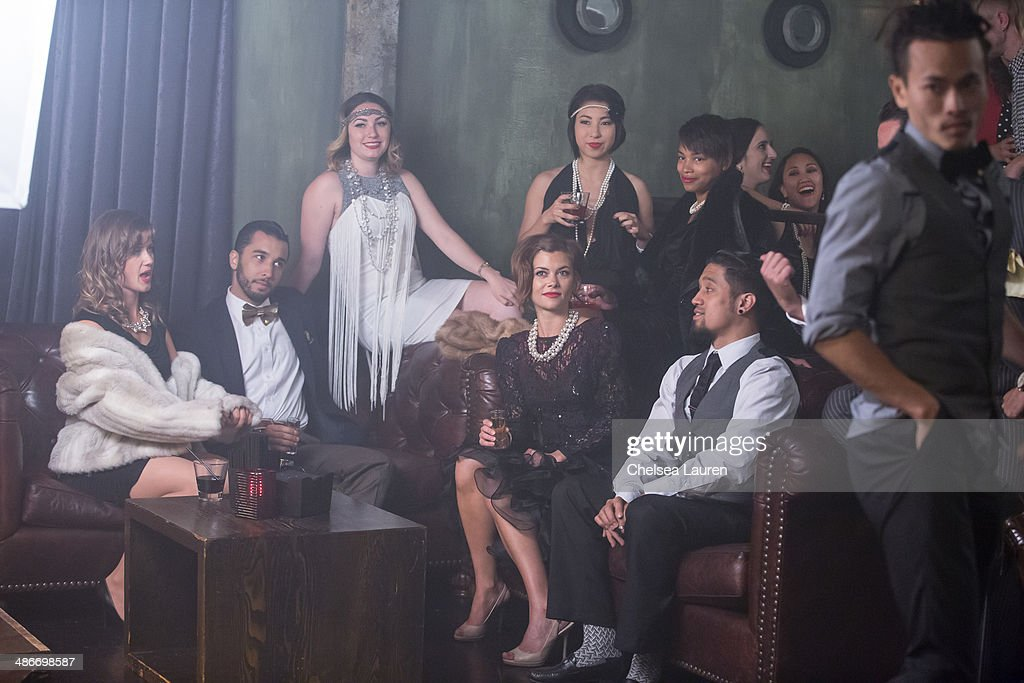 A general view of the atmosphere on the set of the video shoot for Mark Ballas' debut single 'Get My Name', directed by Derek Hough on April 25, 2014 in Los Angeles, California.