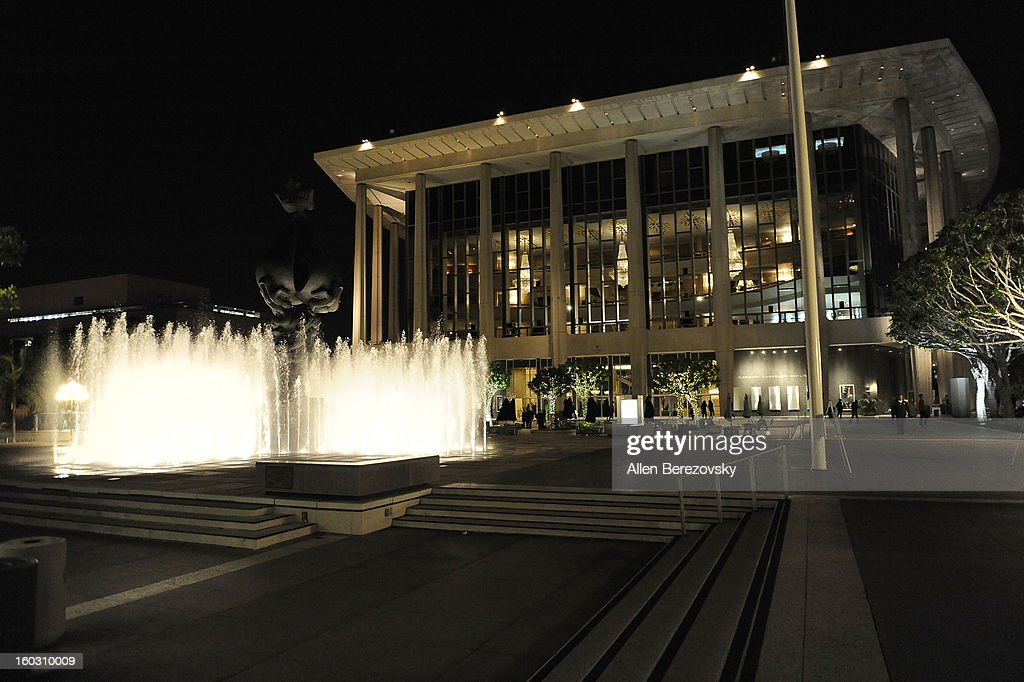 A general view of the atmosphere outside the 'Enter Laughing, The Musical' staged reading and benefit at Mark Taper Forum on January 28, 2013 in Los Angeles, California.