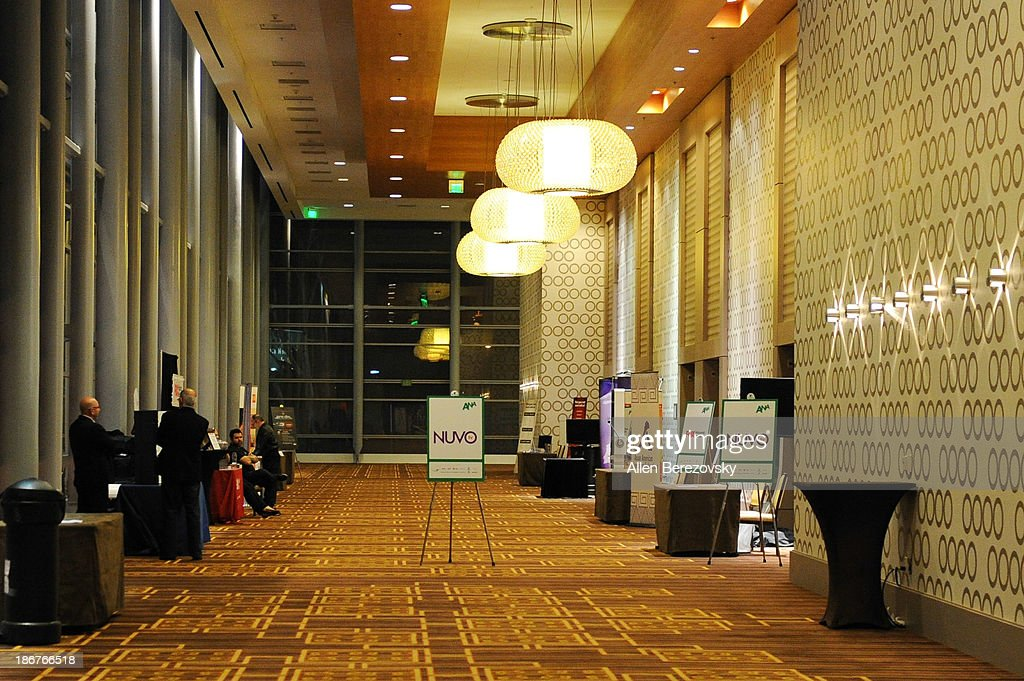 A general view of the atmosphere the ANA Multicultural Cocktail Reception sponsored by NUVOtv at JW Marriott Los Angeles at L.A. LIVE on November 3, 2013 in Los Angeles, California.