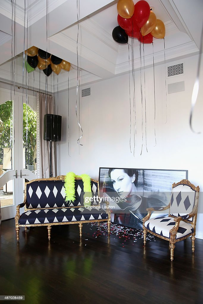 General view of the atmposphere at Lanvin And Living Beauty Host An Evening Of Fashion on April 26, 2014 in Beverly Hills, California.