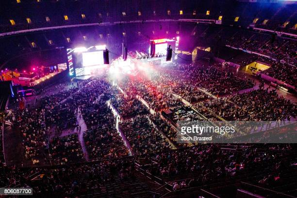 A general view of the atmsophere at the 2017 Essence Festival at the MercedesBenz Superdome on July 2 2017 in New Orleans Louisiana