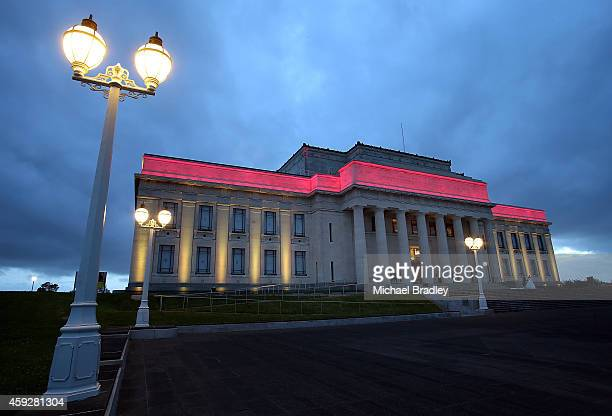 A general view of the Auckland War Memorial Museum's World of Wearable Art exhibition opening at Auckland Museum on November 20 2014 in Auckland New...