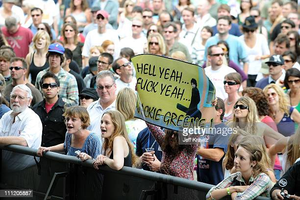 A general view of the audience at Jackie Greene during the 2008 Outside Lands Music And Arts Festival held at Golden Gate Park on August 24 2008 in...