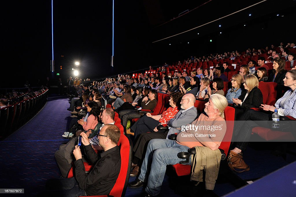 A general view of the audience at the 'History Of The Eagles Part One' screening during Sundance London Film And Music Festival 2013 at Sky...