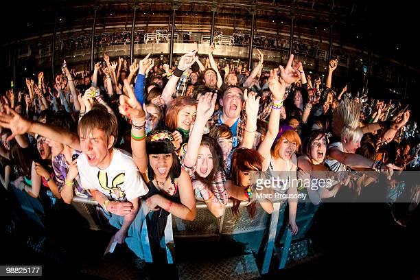 General view of the audience at the Lost Prophet show at the Roundhouse for Camden Crawl Day 2 on May 2 2010 in London England