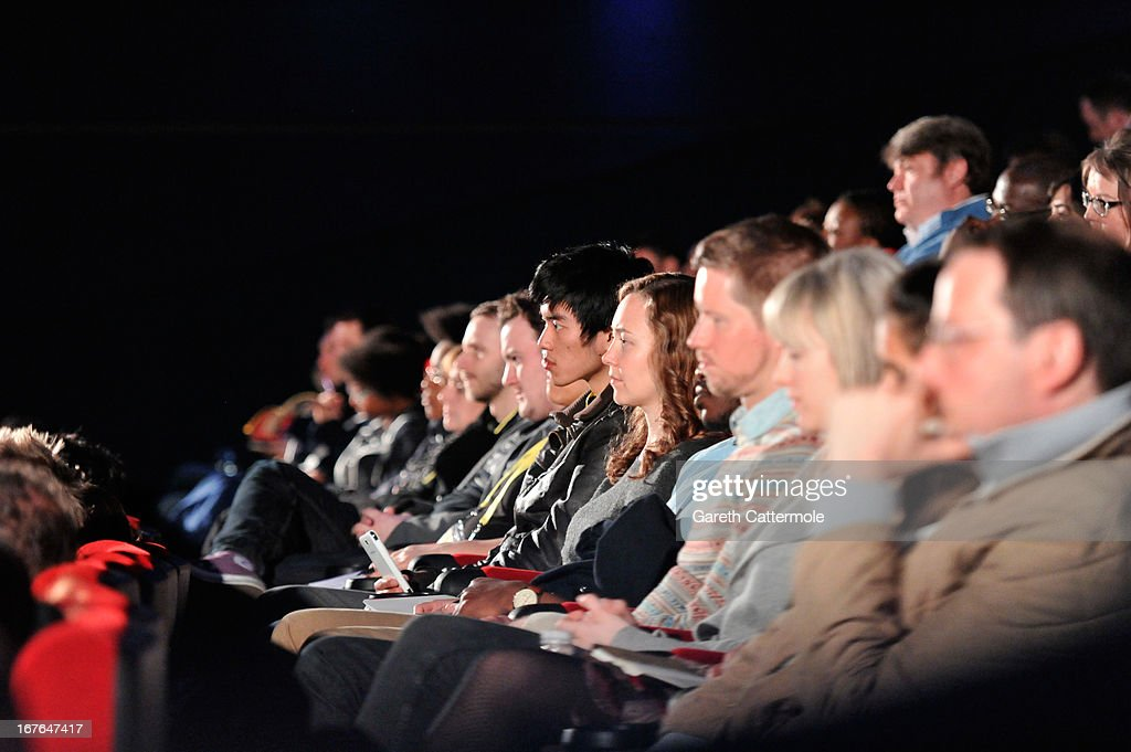 A general view of the audience at the Screenwriting Flash Lab during the Sundance London Film And Music Festival 2013 at Sky Superscreen O2 on April 27, 2013 in London, England.