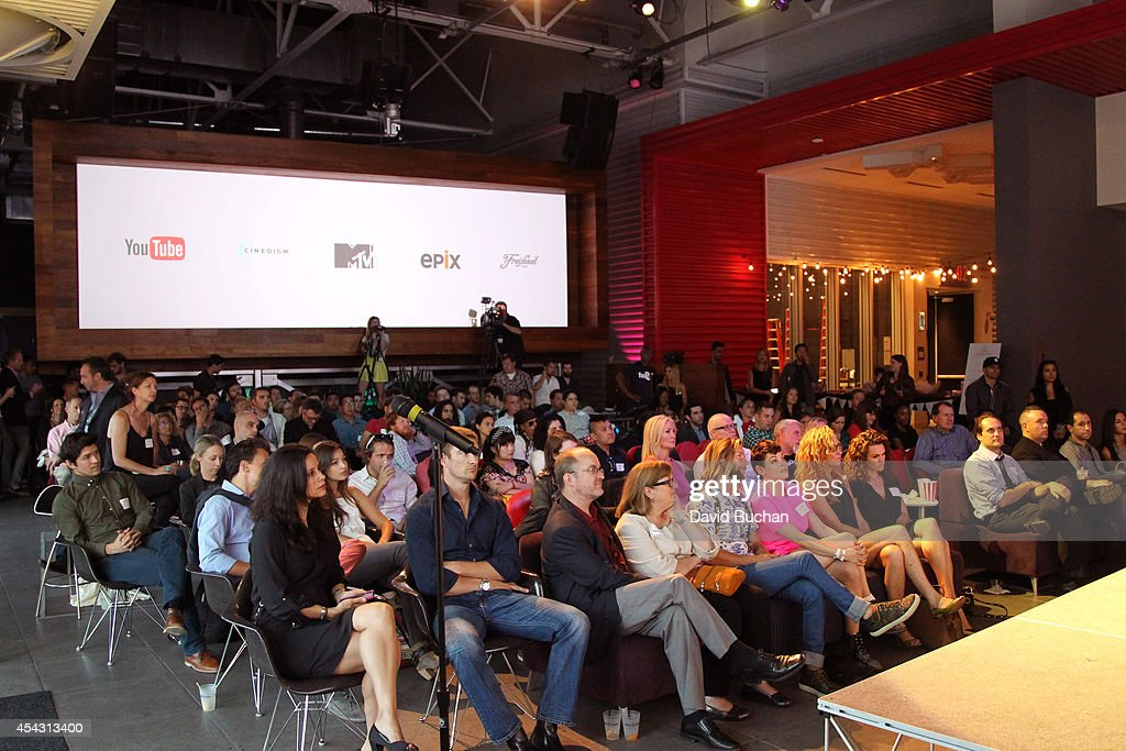 A general view of the audience at TheWrap's ShortList Film Festival at YouTube Space LA on August 28 2014 in Los Angeles California