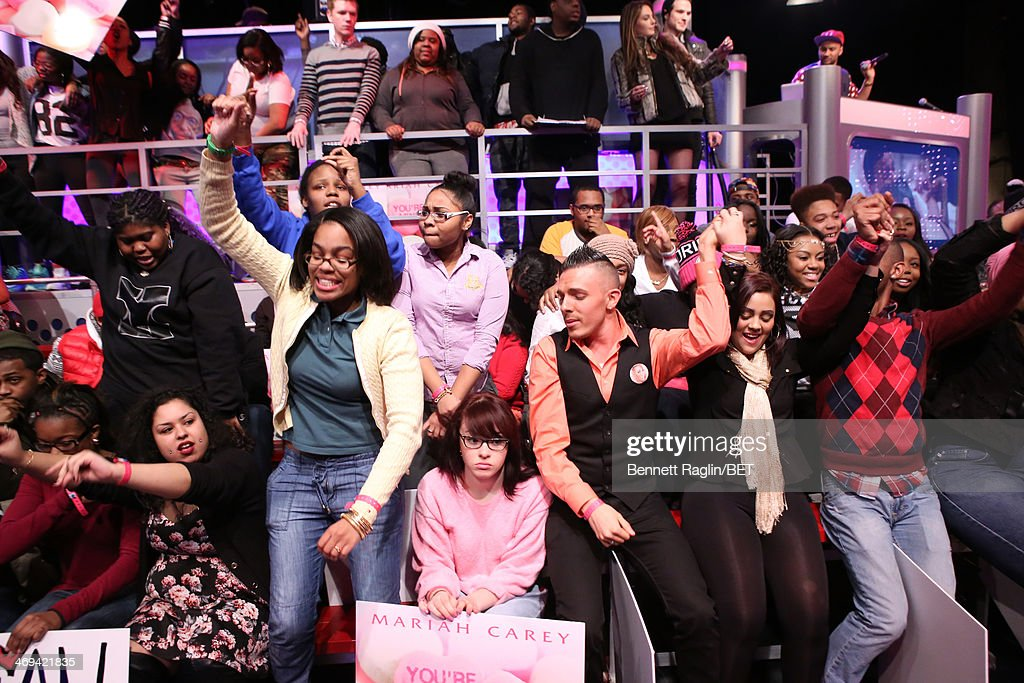 A general view of the audience during 106 & Park at BET studio on February 11, 2014 in New York City.