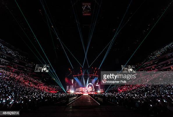 A general view of the audience during The 1989 World Tour Live In Los Angeles at Staples Center on August 21 2015 in Los Angeles California