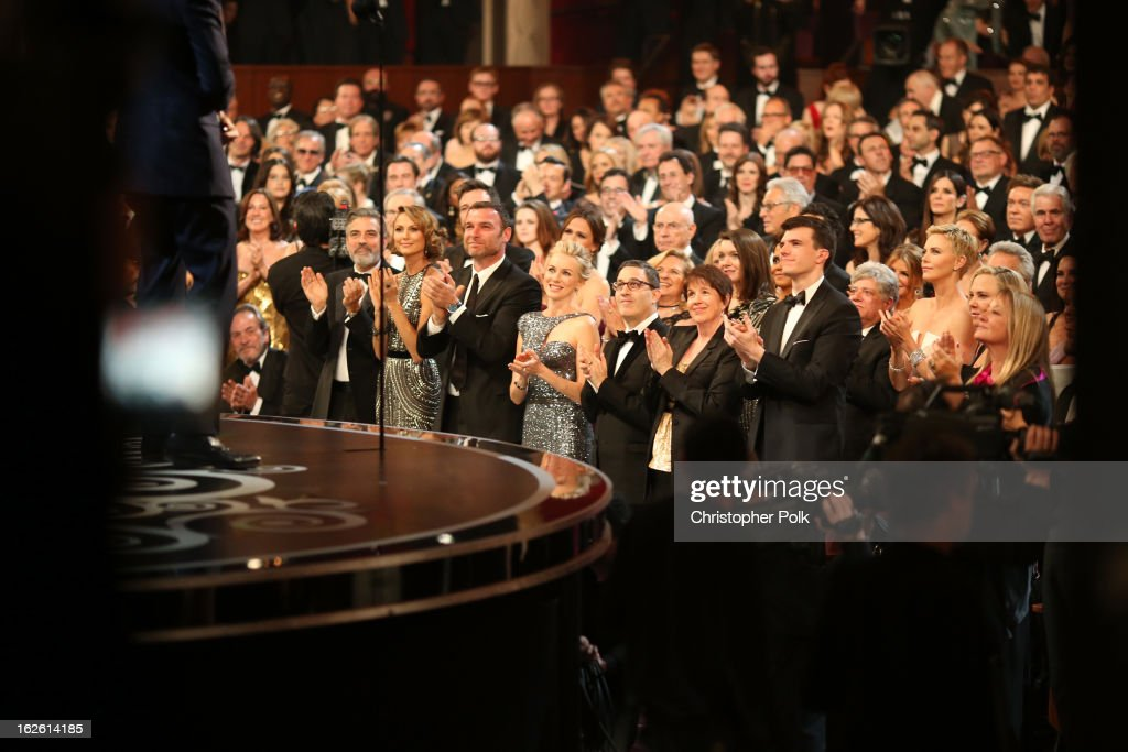 General view of the audience during the Oscars held at the Dolby Theatre on February 24, 2013 in Hollywood, California.