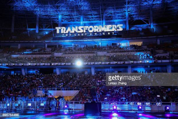 General view of the audience during the 'Transformers The Last Knight' China World Premiere and Ten Year Anniversary Celebration at Haixinsha Asian...