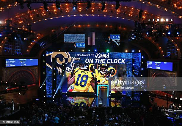 A general view of the Auditorium Theater during the 2016 NFL Draft on April 28 2016 in Chicago Illinois