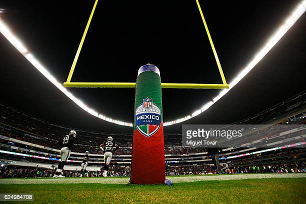 General view of the Azteca Stadium prior the NFL football game between Houston Texans and Oakland Raiders at Azteca Stadium on November 21 2016 in...