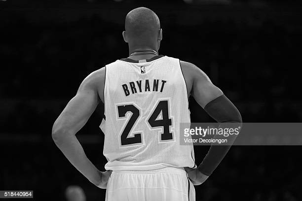 A general view of the back of the jersey of Kobe Bryant of the Los Angeles Lakers is seen during the NBA game against the Washington Wizards at...