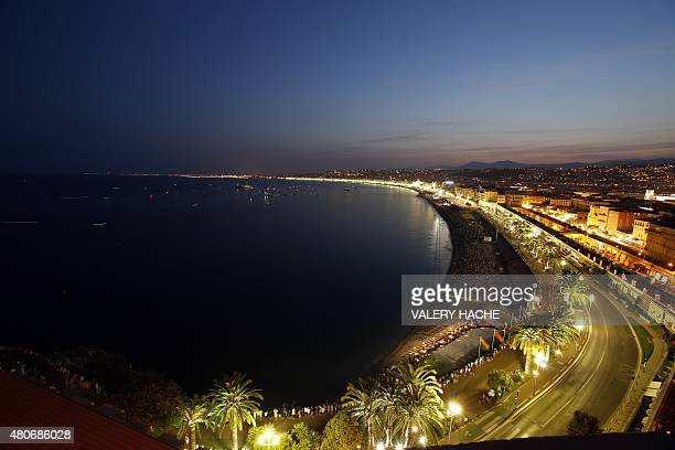 General view of the Baie des Anges on July 14 2015 in Nice southeastern France AFP PHOTO / VALERY HACHE