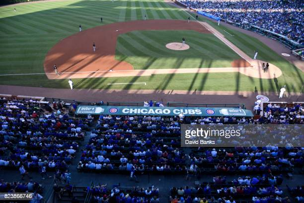 A general view of the ballpark during the game between the Pittsburgh Pirates and the Chicago Cubs on July 8 2017 at Wrigley Field in Chicago Illinois