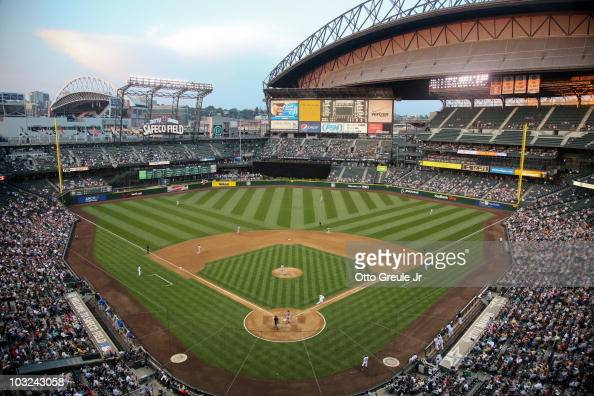 A general view of the ballpark during the game between the Texas Rangers and the Seattle Mariners at Safeco Field on August 3 2010 in Seattle...