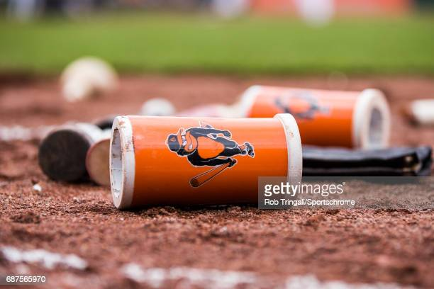 A general view of the Baltimore Orioles ondeck circle during the game between the Baltimore Orioles and the Chicago White Sox at Camden Yards on May...