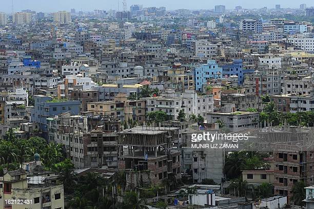 A general view of the Bangladeshi capital city Dhaka on September 20 2010 The South Asian nation sits on active tectonic plates and is frequently...