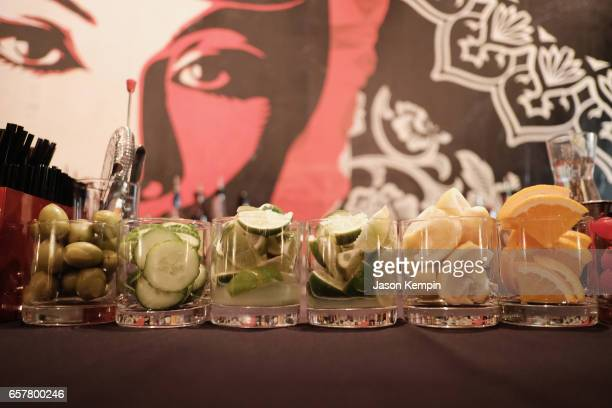 A general view of the bar during the Remy Martin Culture Creators birthday celebration for Laz Alonso at Vandal on March 25 2017 in New York City