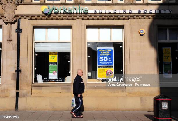 A general view of the Barnsley branch of the Yorkshire Building Society in Barnsley town centre