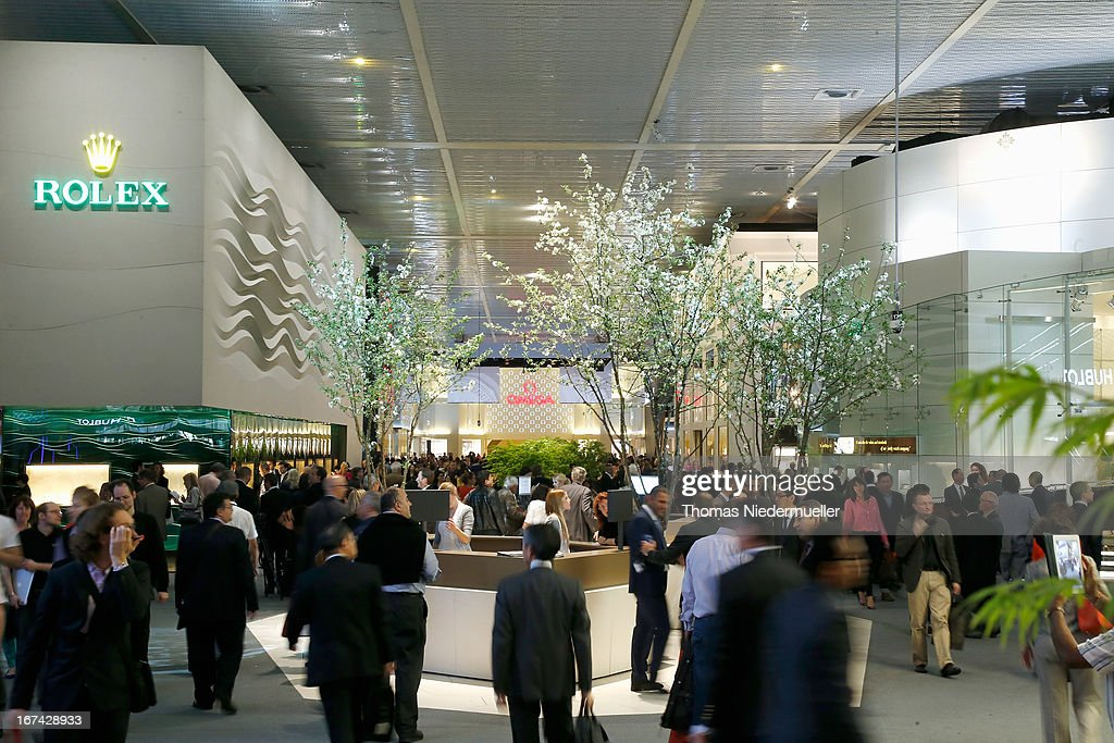 A general view of the 'Baselworld 2013' at Baselworld on April 25, 2013 in Basel, Switzerland.