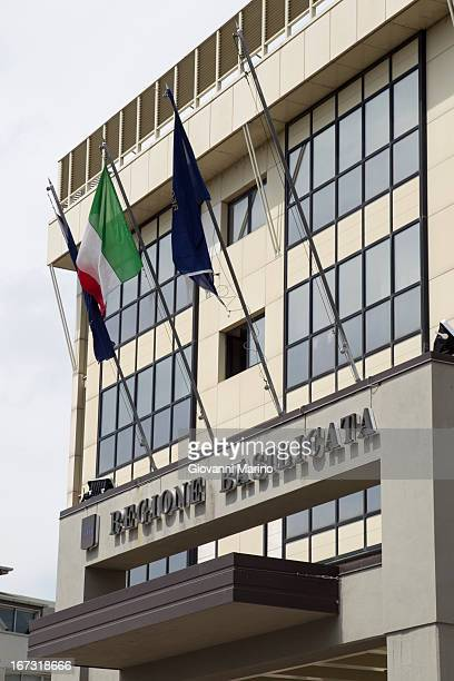A general view of the Basilicata Regional Council buildings on April 24 2014 in Potenza Italy