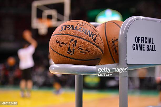A general view of the basketball prior to a game between the Orlando Magic and Flamengo as part of the 2015 Global Games on October 17 2015 at at the...