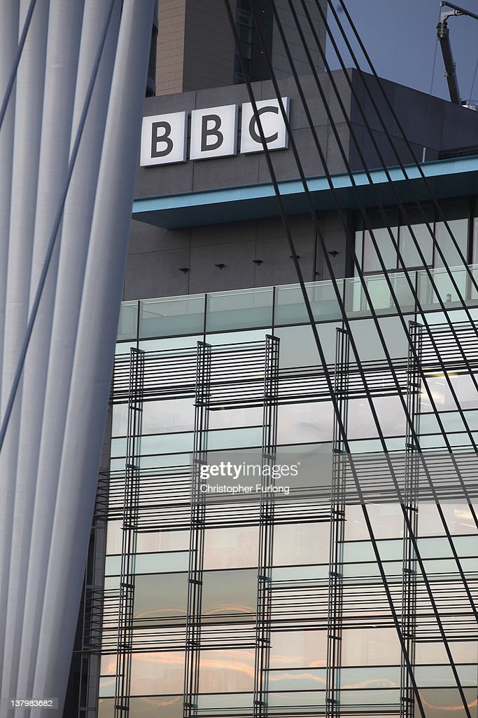 A general view of the BBC studios complex at Media City on January 30, 2012 in Salford, England. The BBC is soon to be joined by new neighbour ITV Granada and the cobbled streets of ITV soap opera 'Coronation Street'. The new ITV complex is being built on the banks of Manchester Ship Canal opposite the BBC in Media City.