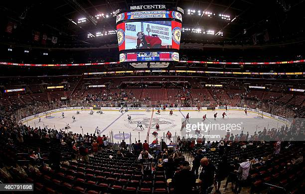 A general view of the BBT Center during a game between the Florida Panthers and the Pittsburgh Penguins on December 22 2014 in Sunrise Florida