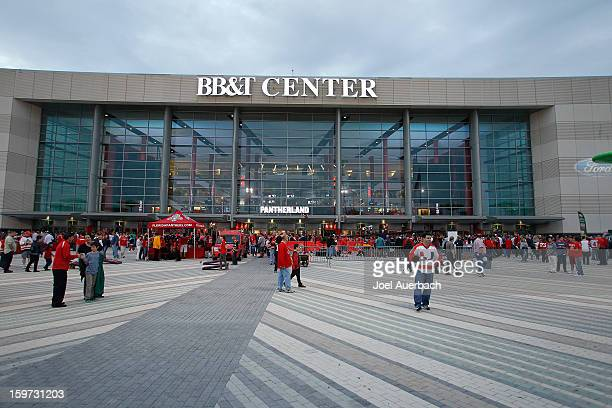 A general view of the BBT Center prior to the seasons opener between the Florida Panthers and the Carolina Hurricanes on January 19 2013 in Sunrise...