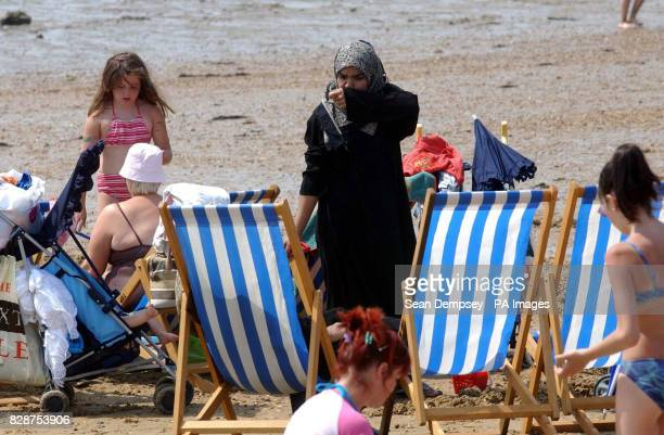 General view of the beach in Southend on Sea Essex Britains heatwave could peak with record temperatures setting a new alltime high for the countrys...
