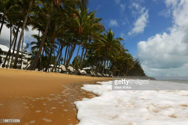 A general view of the beach is seen on November 14 2012 in Palm Cove Australia Located in Far North Queensland the Cairns region is one of...