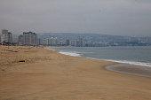 General view of the beach of Viña del Mar on April 24 2015 in Viña del Mar Chile