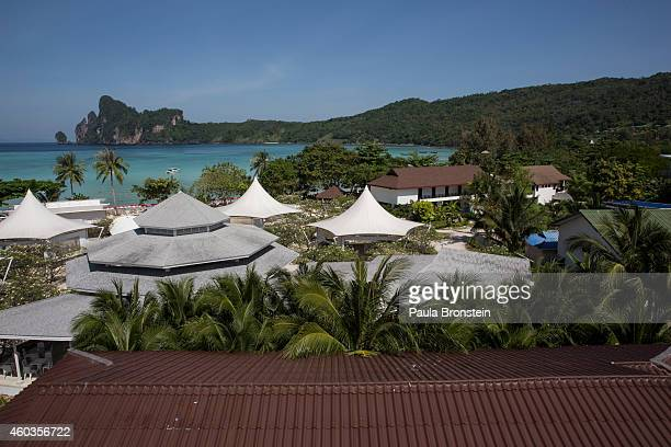 A general view of the beach prior to the ten year anniversary of the 2004 earthquake and tsunami on December 12 2014 in Phi Phi Village Ton Sai Bay...