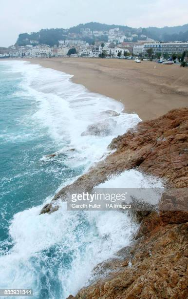 A general view of the beauty spot where Symon Howlett and his 5 yearold son Jay died when a freak wave hit them as they posed for pictures