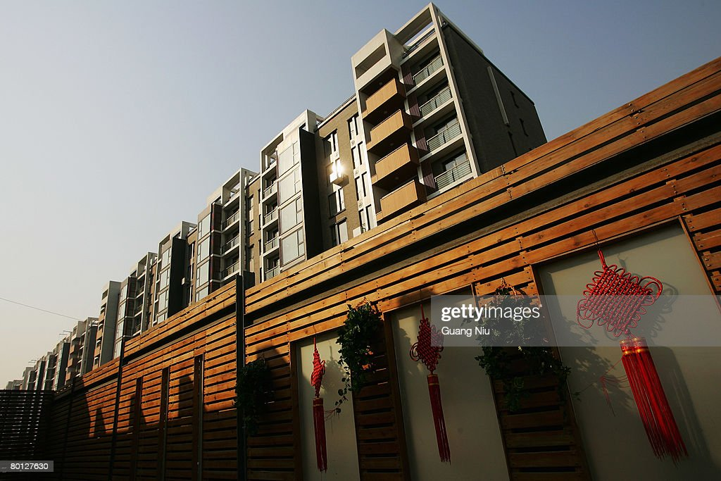 A general view of the Beijing Olympic Athletes Village on March 5 2008 in Beijing China The Olympic village covering an area of 66 hectares is...