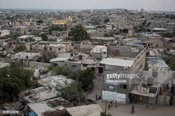 A general view of the Beit Hanoun neighborhood on July 24 2017 in Gaza City Gaza For the past ten years Gaza residents have lived with constant power...