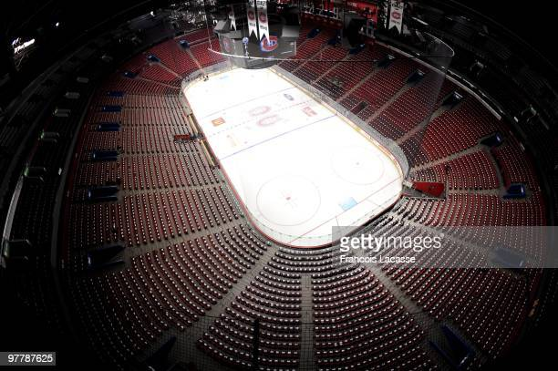 General view of the Bell Center before the NHL game against the Edmonton Oilers on March 11 2009 at the Bell Center in Montreal Quebec Canada