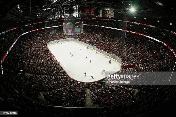 A general view of the Bell Centre is seen as the Montreal Canadiens take on the Philadelphia Flyers at the Bell Centre on December 21 2006 in...