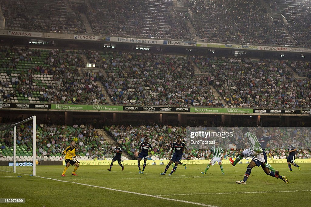 General view of the Benito Villamarin Stadium home of Real Betis Balompie taken during the UEFA Europa League group stage match between Real Betis...