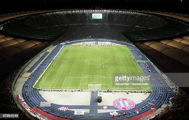 A general view of the Berlin Olympic Stadion during the German Football Federations Cup Final between FC Schalke 04 and Bayern Munich on May 28 2005...