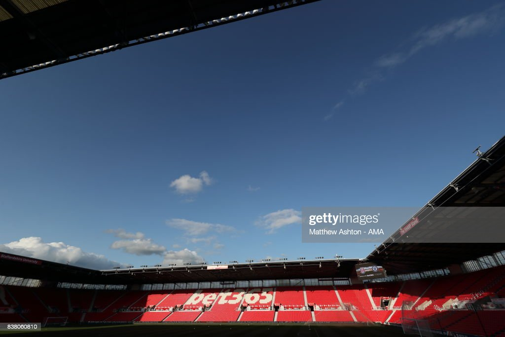A general view of the Bet365 Stadium home of Stoke city prior to the Carabao Cup Second Round match between Stoke City and Rochdale at Bet365 Stadium on August 23, 2017 in Stoke on Trent, England.